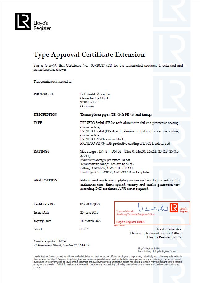 Certifications – IVT - Member of the Würth Group